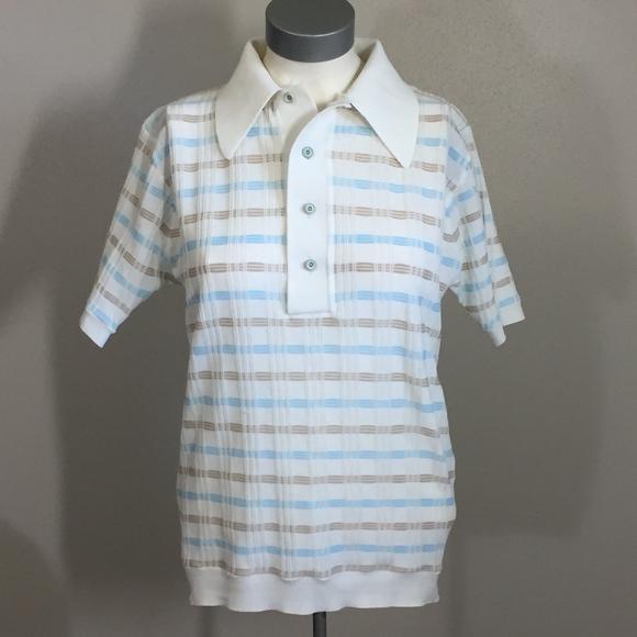 acb34298 Vintage Men's 1970s JCPenney Striped Polo Shirt. M_5b1eb1483c9844907cb6143d